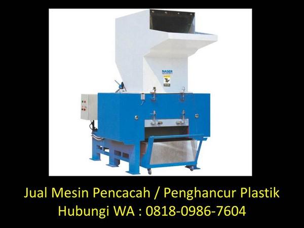 prinsip kerja mesin penghancur plastik di bandung