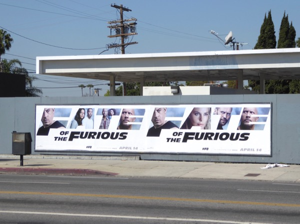 Fate of the Furious street posters