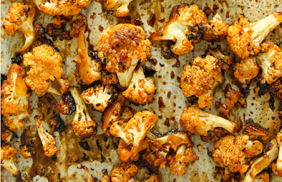 Sweet and Spicy Baked Cauliflower #food