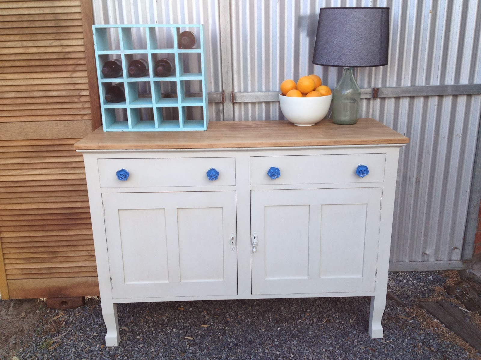 Drip Designs Furniture: Antique White Oak Buffet/sideboard