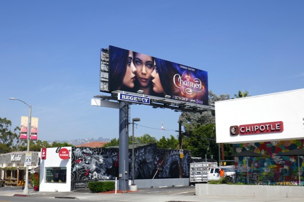 Charmed series launch billboard