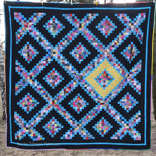 Triple Irish with a Twist Quilt Free Pattern