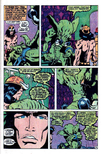 Conan the Barbarian v1 #4 marvel comic book page art by Barry Windsor Smith