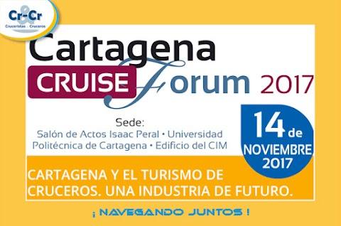 Cita de profesionales en el Cartagena Cruise Forum el proximo 14 de noviembre