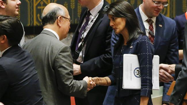 US ambassador to the United Nations Nikki Haley calls for marking Donald Trump's fire and fury comment against North Korea 'not empty'