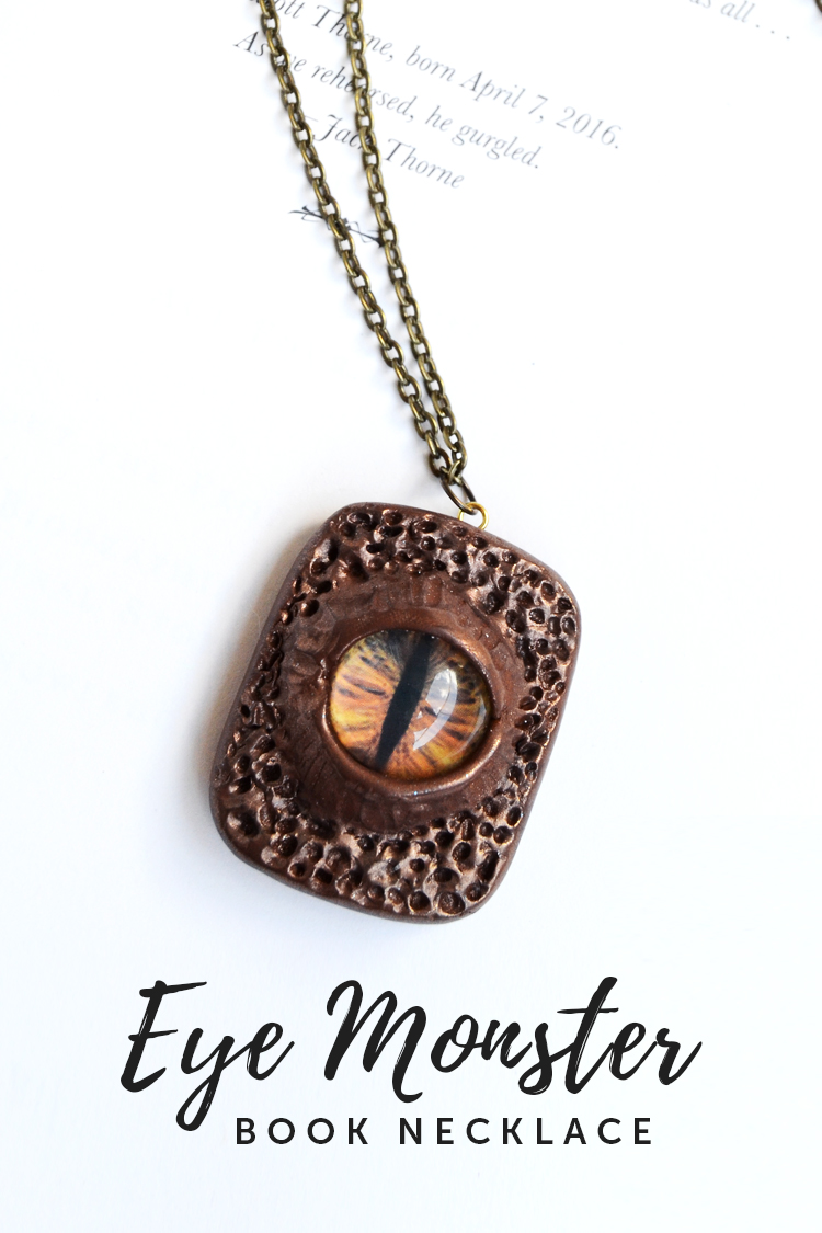 monster book necklace DIY