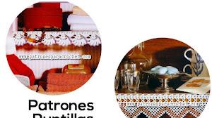 Puntillas - orillos para estantes / Patrones crochet