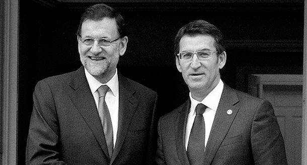 Rajoy y Feijoo