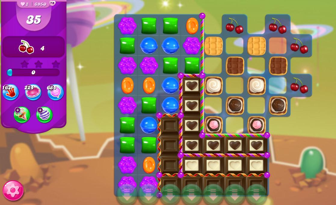Candy Crush Saga level 6950
