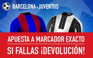 sportium promocion marcador exacto Barcelona vs Juventus 19 abril