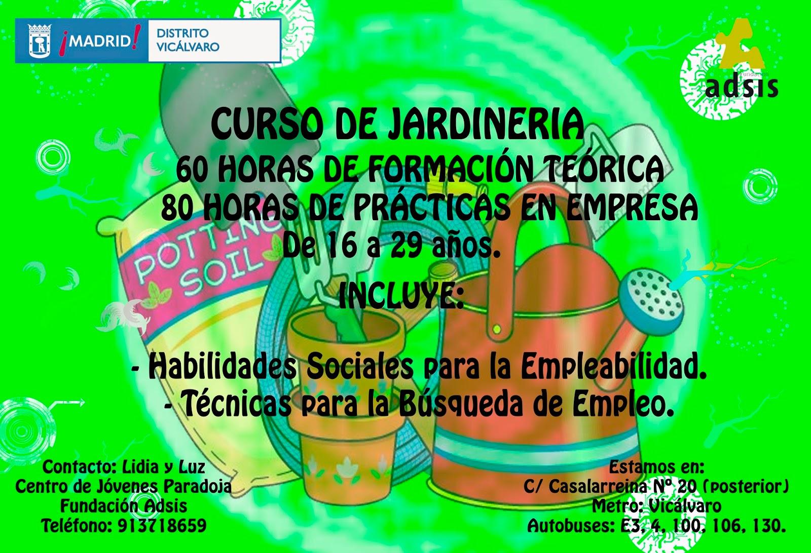 Cursos de formaci n gratuitos jardiner a y comercio for Formacion jardineria