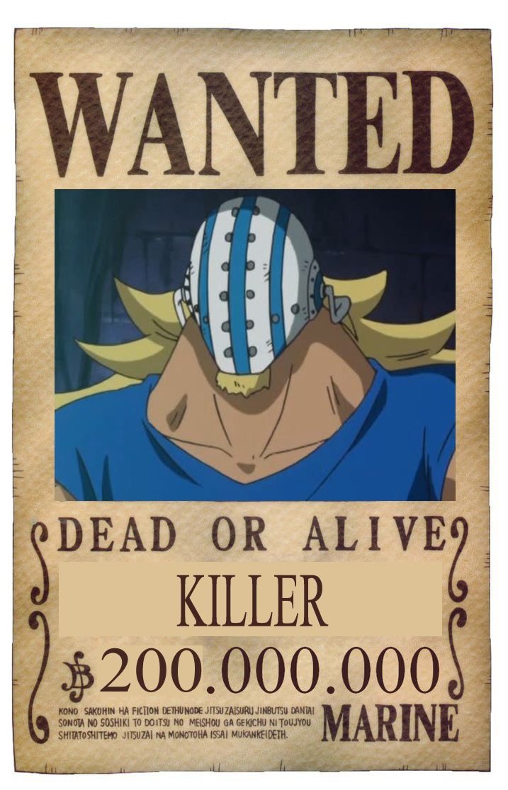 BOUNTY WANTED DEAD OR ALIVE KILLER