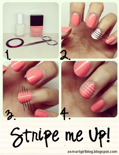 Nail Designs Using Striping Tape#%