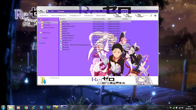 Win 7 Theme Re:Zero kara Hajimeru Isekai Seikatsu 3