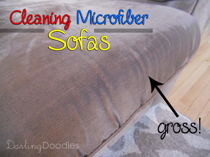 Cleaning Microfiber Sofas Darling Doodles