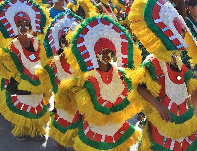 Street performers in Ati-Atihan Festival