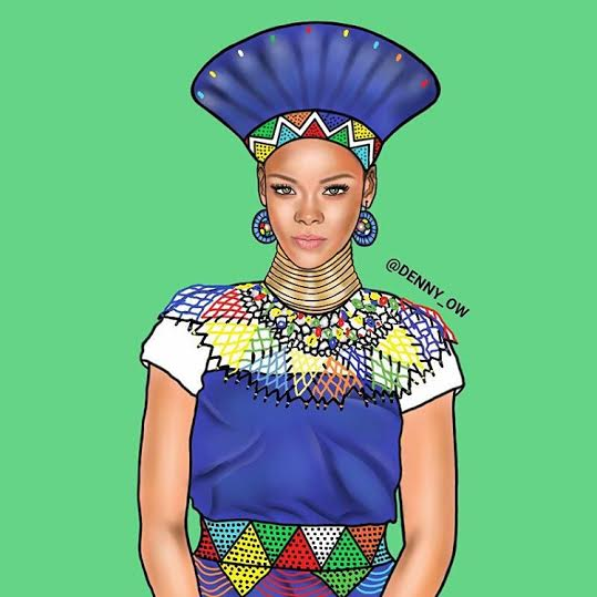Check out these African illustration of Rihanna, Diddy, Drake, Nicki Minaj, Jay Z, others