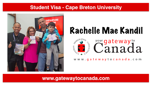 Ms. Rachelle Mae Kandil is going to Cape Breton University!