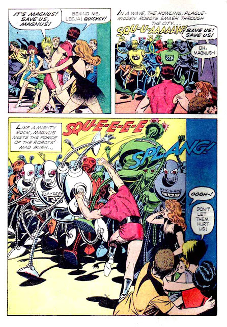 Magnus Robot Fighter v1 #7 gold key silver age 1960s comic book page art by Russ Manning