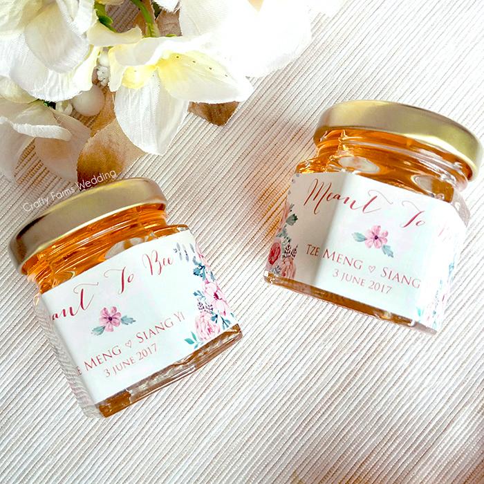 Wedding Card Malaysia Crafty Farms Handmade Honey Jar Favors
