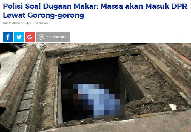 Isu Makar via Gorong-gorong Gedung DPR, Aktivis Senior: Polisi Jadi Tertawaan Rakyatnya Sendiri