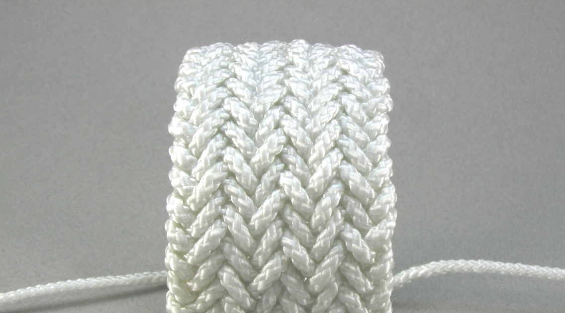 Knots and fiber bracelets: triple herringbone weave rope