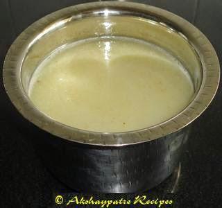 grind to smooth paste to make mango panna