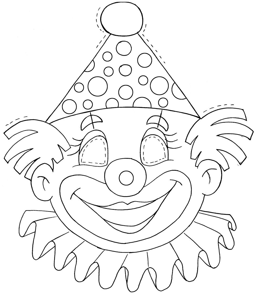 Muitas máscaras de palhaço para carnaval ou dia do Circo