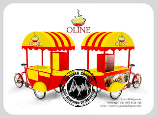 produksi gerobak sepeda bubur ayam
