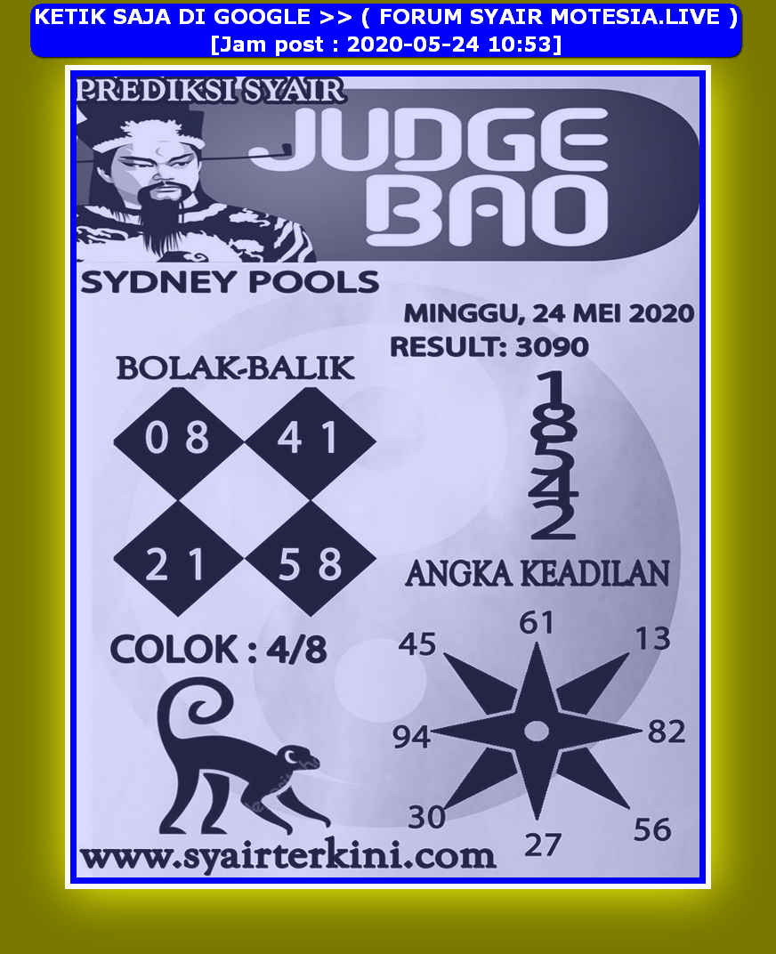 Kode syair Sydney Minggu 24 Mei 2020 192