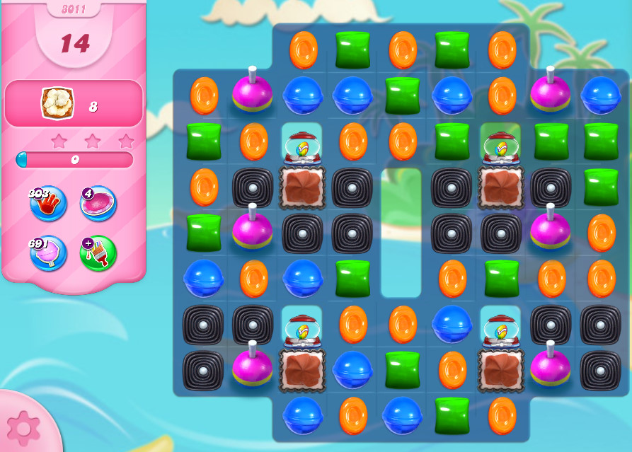 Candy Crush Saga level 3011