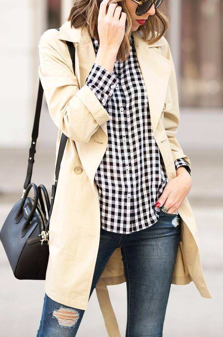 how to wear a palid shirt : nude coat + bag + skinnies