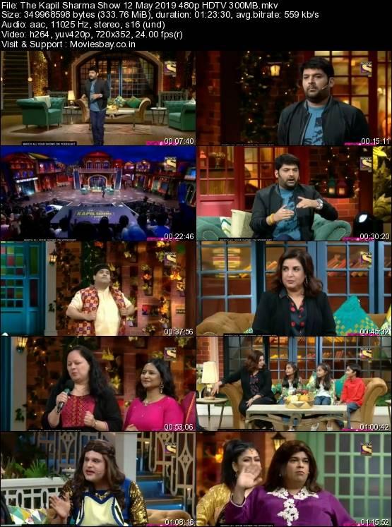 Screen Shoot of The Kapil Sharma Show 12 May 2019 480p HDTV 300MB