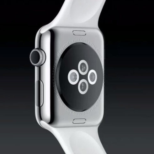 Apple Watch sensors at the back