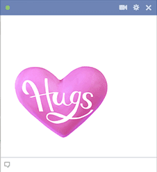 Hugs Heart Facebook Sticker