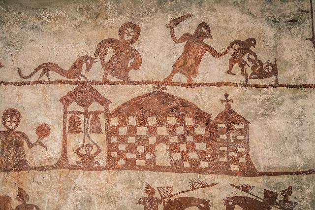 Rape and war mural in 13th century Spanish church baffles historians