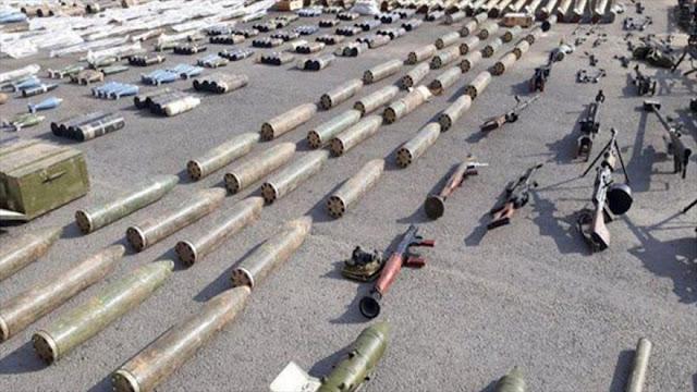Siria halla armas de EEUU e Israel dejadas por terroristas en Homs