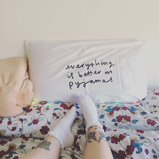 everything is better in pyjamas pillow case