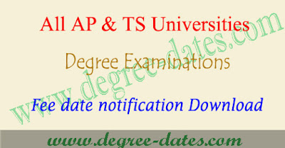 All universities degree exam fee last date ug fees details notification