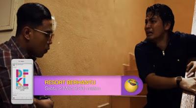 Izzue Islam di dalam cerekarama Resort Berhantu