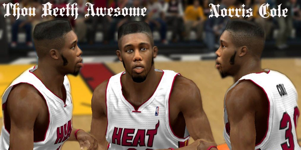 NBA 2K13 Norris Cole Cyber Face (New Hair) - NBA2K.ORG