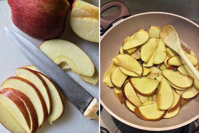 torta di mele alla cannella e miele