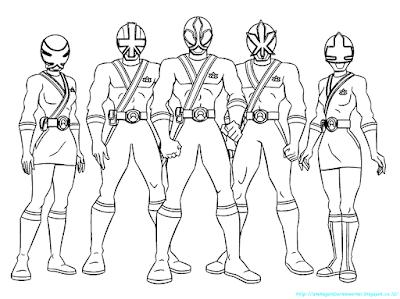 Mewarnai Gambar Power Ranger - 1