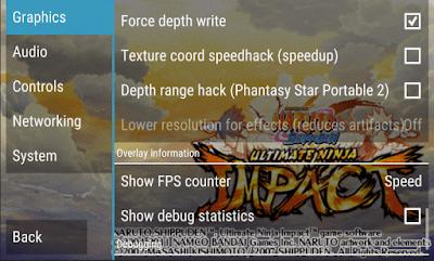 Cara SCara Setting Naruto Ninja Impact PPSPP