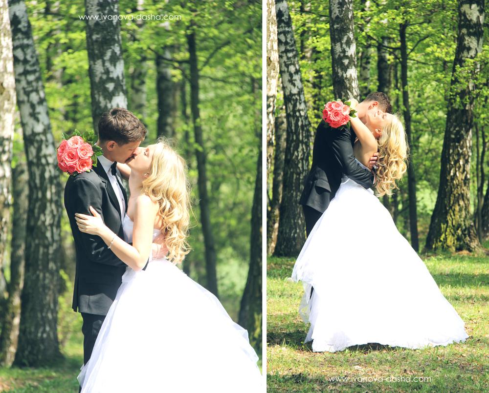 свадебная фотография на природе