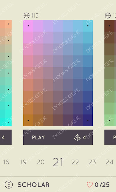 I Love Hue Scholar Level 21 Solution, Cheats, Walkthrough