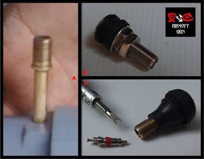 tire valve untuk pvc airsoft gun