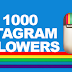 1 000 Followers On Instagram