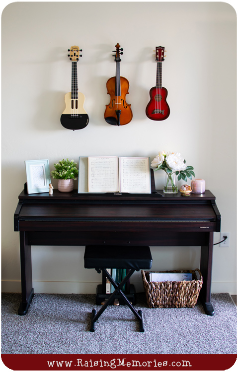 Decorate with Instruments Living Room Makeover