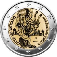 vatikaani 2 euroa 2008